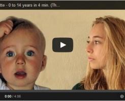 0歳から14歳までの成長を4分間に凝縮