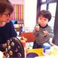 ギャル曽根と子供の画像